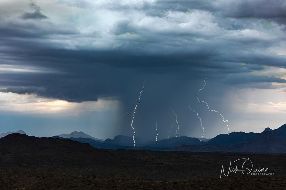 Lightning Strike near Terlingua