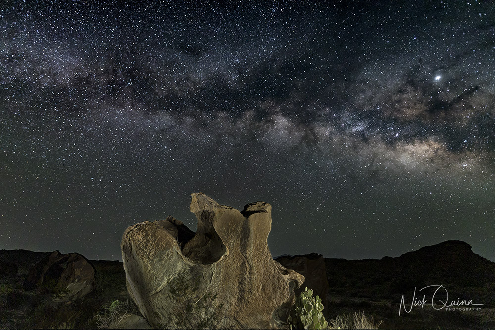 Indian Head Rocks with Milky Way