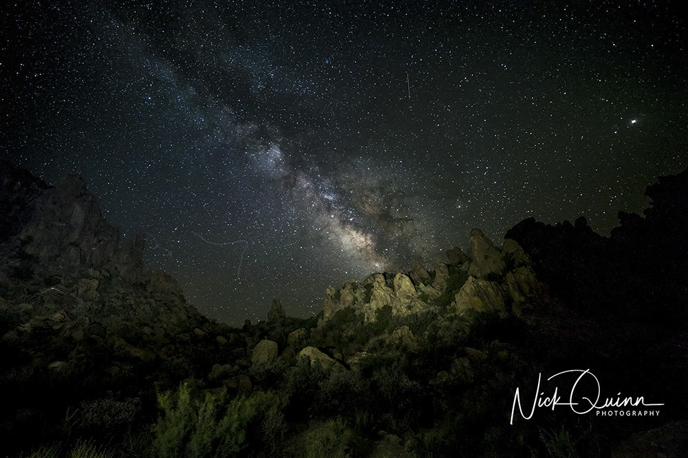 Grapevine Hills with Milky Way